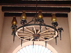 Wagon wheel chandelier in Sedona