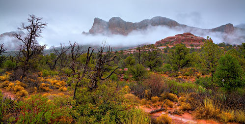 Rain over Sedona's Red Rocks
